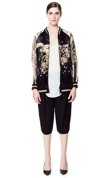 Zara Reversible Embroidered Bomber Jacket - £119