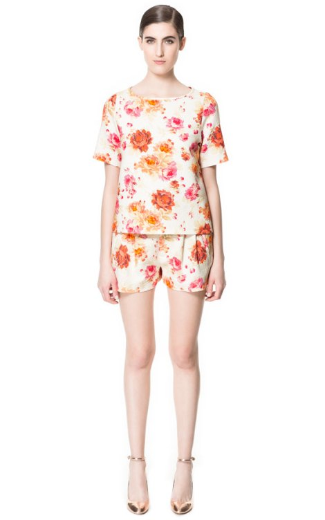 Zara Flower Print Shorts and Top - http://bit.ly/11Z1Tdv